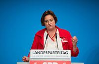 DEU, Deutschland, Germany, Berlin, 02.06.2018: Landesparteitag der Berliner SPD im Hotel Andels. Rede von Ina Czyborra (MdA), neu gewählte stellvertretender Landesvorsitzende.