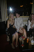 Valentina Drouin and Fiona Knapp, Biba after-show party organised by Quinessentially.  Royal Duchess Palace, 16 Mansfield Street, London W1. 19 September 2006.  ONE TIME USE ONLY - DO NOT ARCHIVE  © Copyright Photograph by Dafydd Jones 66 Stockwell Park Rd. London SW9 0DA Tel 020 7733 0108 www.dafjones.com