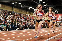 2020 USATF Indoor Championship<br /> Albuquerque, NM 2020-02-15<br /> photo credit: © 2020 Kevin Morris<br /> womens 1500m final, Bowerman TC, Nike,