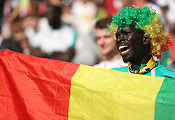 MOSCOW, June 19, 2018  A fan of Senegal cheers prior to a Group H match between Poland and Senegal at the 2018 FIFA World Cup in Moscow, Russia, June 19, 2018. (Credit Image: © Fei Maohua/Xinhua via ZUMA Wire)