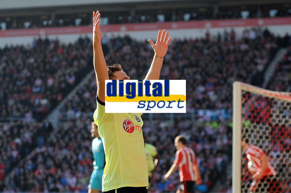 Football - Premier League - Sunderland vs.  Newcastle United<br /> Yohan Cabaye (Newcastle United) celebrates his goal to put his team ahead at the Stadium of Light