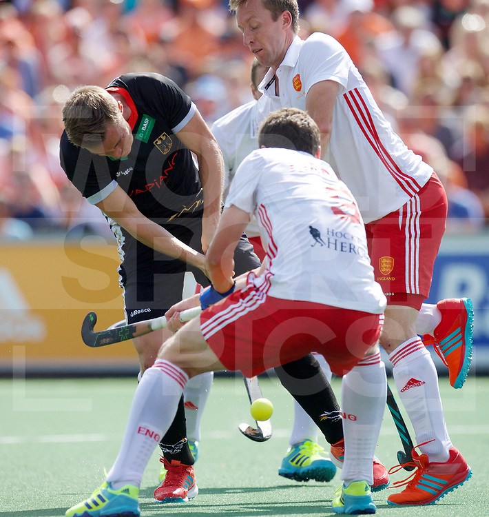 AMSTERDAM - Rabo EuroHockey Championships <br /> 19 Germany - England<br /> foto: Mats Grambusch shoots.<br /> Worldsportpics COPYRIGHT FRANK UIJLENBROEK