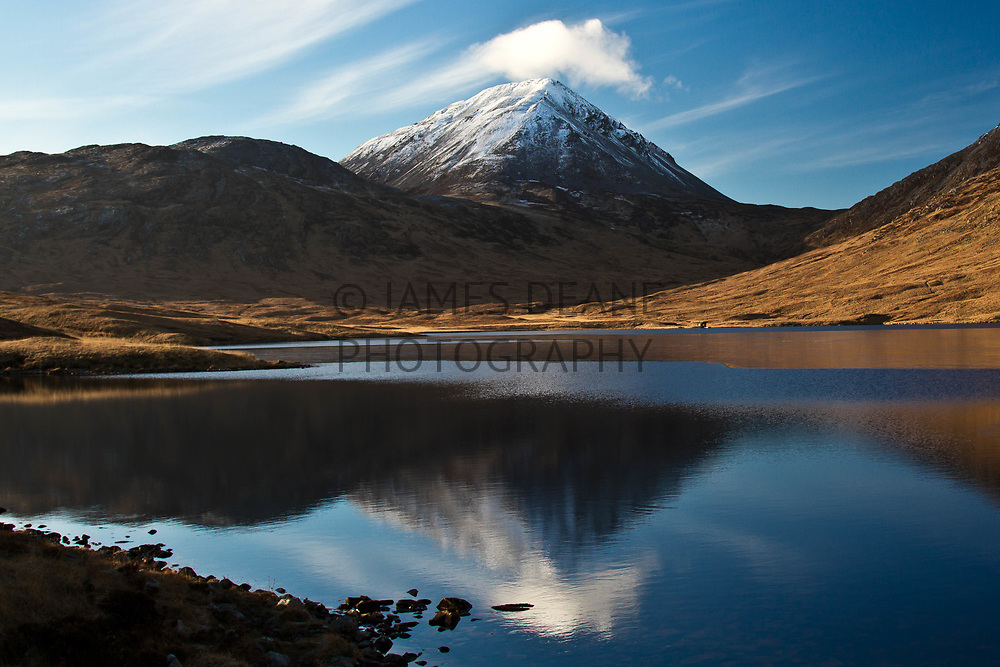Beinna a Chaolais on the Isle of Jura, reflected in Loch an t'Siob