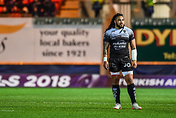 Toulon's Ma'a Nonu <br /> <br /> Photographer Craig Thomas/Replay Images<br /> <br /> European Rugby Champions Cup Round 5 - Scarlets v Toulon - Saturday 20th January 2018 - Parc Y Scarlets - Llanelli<br /> <br /> World Copyright © Replay Images . All rights reserved. info@replayimages.co.uk - http://replayimages.co.uk