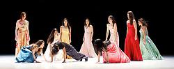 "Tanztheater Wuppertal Pina Bausch <br /> ""...como el musguito en la piedra, ay si, si, si..."" (Lie moss on a stone) at Sadler's Wells, London, Great Britain <br /> rehearsal <br /> 10th February 2016 <br /> <br /> Pablo Aran Gimeno<br /> Rainer Behr<br /> Damiano Ottavio Bigi <br /> Clementine Deluy <br /> Silvia Farias Heredia <br /> Jonathan Fredrickson <br /> Ditta Miranda Jasjfi<br /> Nayoung Kim <br /> Eddie Martinez<br /> Dominique Mercy <br /> Thusnelda Mercy <br /> Morena Nascimento <br /> Azusa Seyama<br /> Fernando Suels Mendoza<br /> Anna Wehsarg<br /> Tsai-Chin Yu <br /> <br /> <br /> Photograph by Elliott Franks <br /> Image licensed to Elliott Franks Photography Services"