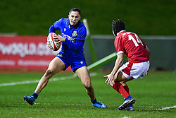 Jacopo Trulla of Italy in action <br /> <br /> Photographer Craig Thomas/Replay Images<br /> <br /> U20 Six Nations - Wales v Italy  - Friday 31st January 2020 - Stadiwm Zip World (Parc Eirias) - Colwyn Bay<br /> <br /> World Copyright © Replay Images . All rights reserved. info@replayimages.co.uk - http://replayimages.co.uk