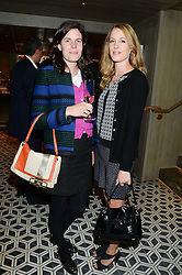 Left to right, LADY LAURA CATHCART and EMMA WIGAN at the Launch of Pont St Restaurant at Belgraves Hotel, 20 Chesham Place, London SW1 on 10th September 2013.