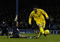 Photo: Olly Greenwood.<br />Southend United v Preston North End. Coca Cola Championship. 11/11/2006. Preston's David Nugent see's his goal dissallowed for offside