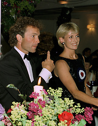 MR JOHNNY FRANCOMBE and MRS TRACEY BAILEY former wife of trainer Kim Bailey, at a ball in London on 17th June 1997.LZL 52