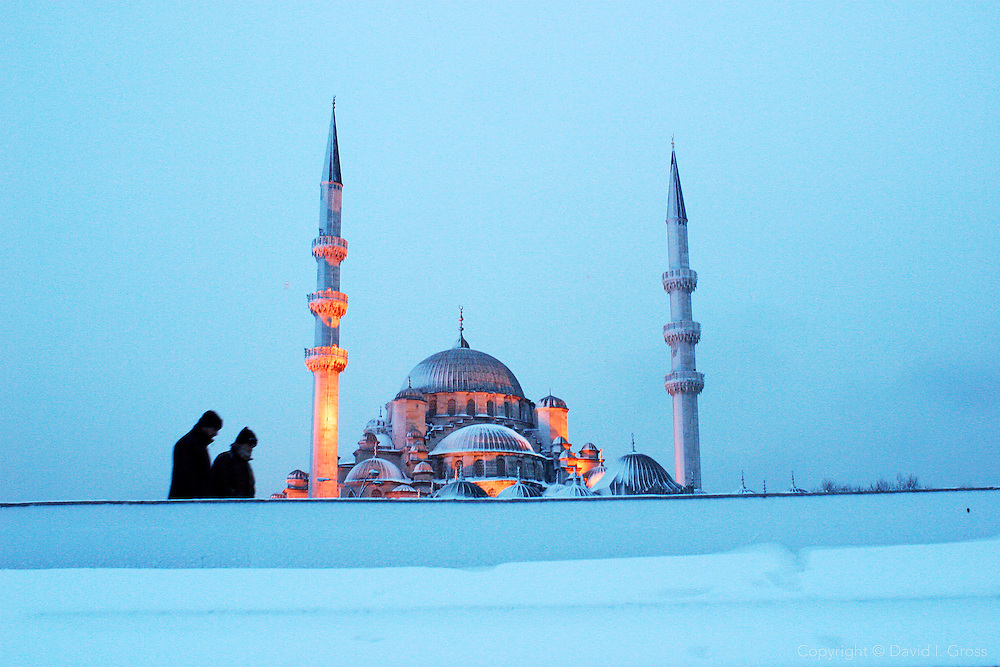 Near the Yeni Mosque (Valide Mosque) in Istanbul, Turkey.