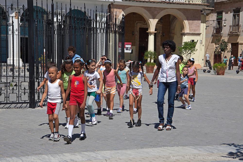 Central America, Cuba, Havana. School Children in Havana.