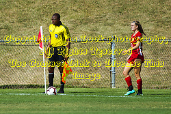 NORMAL, IL - August 10:  Mardoche Beya & Tamia Cash during a nonconference exhibition women's soccer match between the Southern Illinois Edwardsville Cougars and the Illinois State Redbirds August 10 2019 on Adelaide Street Field in Normal IL (Photo by Alan Look)