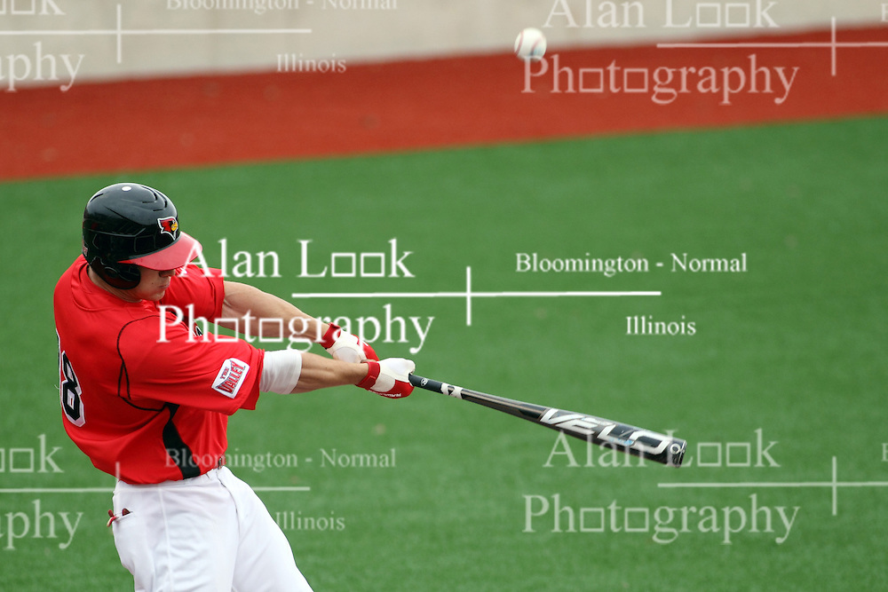 06 April 2013:  Batter Chad Hinshaw during an NCAA division 1 Missouri Valley Conference (MVC) Baseball game between the Missouri State Bears and the Illinois State Redbirds in Duffy Bass Field, Normal IL