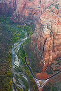 View from Angels Landing, Zion National Park, Utah.