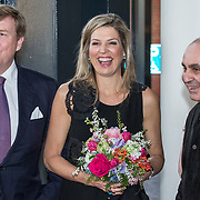"NLD/Amsterdam/20180418 - Koning en Koningin bij premiere ""Gurre-Lieder"", Koning Willem Alexander en koningin Maxima en Pierre Audi"