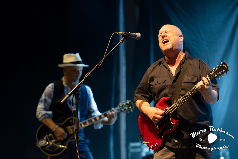 Pixies, Black Francis, Frank Black, Joey Santiago, live at Blossom Music Center, concert photography by Cleveland music photographer Mara Robinson