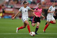 Football - 2017 UEFA Women's European [Euro] Championship - Group D: England vs. Scotland<br /> <br /> Jodie Taylor of England scores her first goal at Stadion Gagenwaard, Utrecht.<br /> <br /> COLORSPORT/LYNNE CAMERON