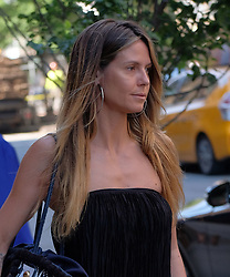 June 13, 2017 - New York, New York, United States - TV personality Heidi Klum goes make-up free as she leaves a downtown hotel on June 13 2017 in New York City  (Credit Image: © Curtis Means/Ace Pictures via ZUMA Press)