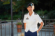 Colonel Kimberly M. Colloton, Commander and District Engineer for the Los Angeles District U.S. Army Corps of Engineers. Raphael Sbarge films FoLAR documentary at LA River Center, Los Angeles, California, USA