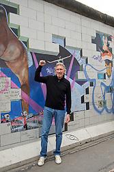 03.09.2013, Eastside Gallery, Berlin, GER, im Bild Roger Walters an der Easside Gallery, ein Teil der Eastside Gallery mit dem weltberuehmten Motiv des 'The Wall' Albums von Pink Floyd // at the Eastside Gallery in Berlin, Germany on 2013/09/03. EXPA Pictures © 2013, PhotoCredit: EXPA/ Eibner/ Peter Fauland<br /> <br /> ***** ATTENTION - OUT OF GER *****