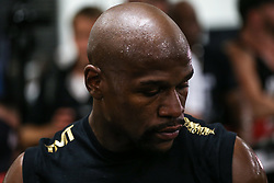 August 10, 2017 - Las Vegas, Nevada, USA - FLOYD MAYWEATHER JR. attends a media day at the Mayweather Boxing Club in Las Vegas, Nevada. Mayweather Jr. will fight Connor McGregor at the T-Mobile Arena in Nevada on August 26. (Credit Image: © Joel Angel Juarez via ZUMA Wire)