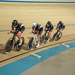 25-11-2018: Wielrennen: NK Baan: Apeldoorn<br />Kirstie van Haaften; Amber van der Hulst; Bente van Teeseling;  Mylene de Zoete;