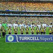 Trabzonspor's players during their Turkish superleague soccer derby match Fenerbahce between Trabzonspor at the Sukru Saracaoglu stadium in Istanbul Turkey on Sunday 16 May 2010. Photo by TURKPIX