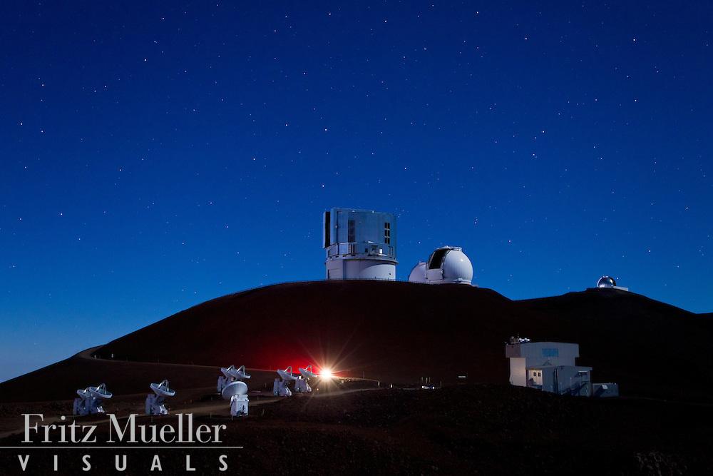Observatories on the summit of Maouna Kea, Big Island, Hawaii