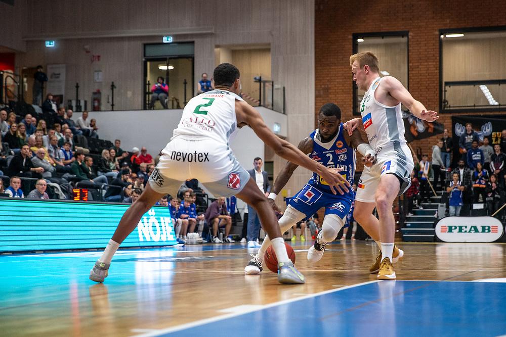 ÖSTERSUND 20210924<br /> Jämtlands CJ Wilson under fredagens match i Basketligan mellan Jämtland Basket och Nässjö Basket i Östersunds Sporthall<br /> <br /> Foto: Per Danielsson/Projekt.P