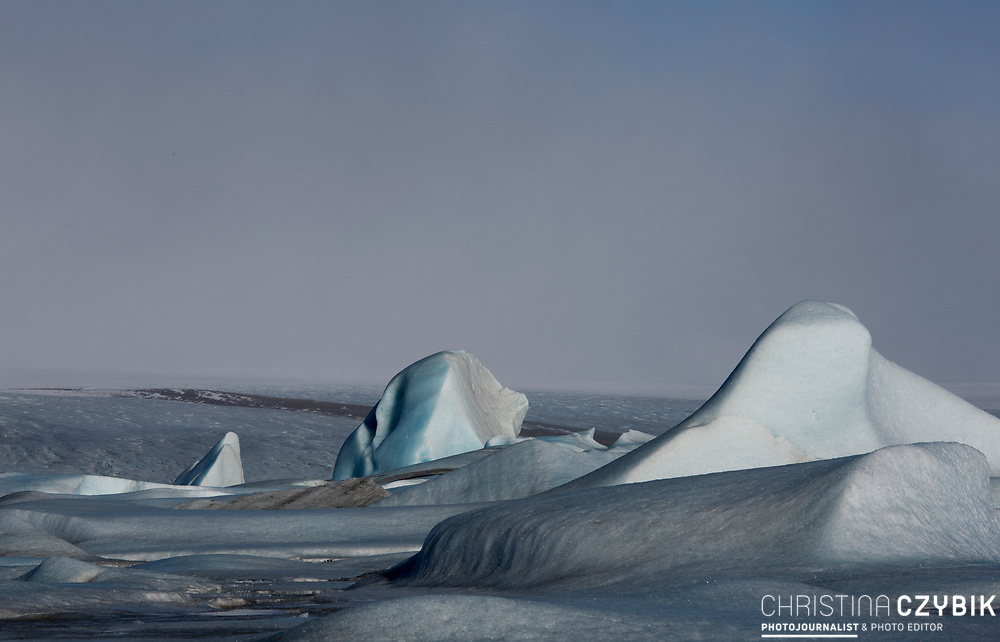 Fjallsarlon Glacier Lagoon, Iceland on March 13, 2014.<br /> <br /> copyright: Christina Czybik