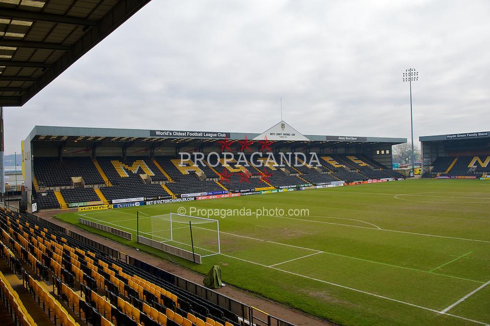 NOTTINGHAM, ENGLAND - Sunday, January 30, 2011: A general view of Notts County's Meadow Lane stadium. (Photo by David Rawcliffe/Propaganda)