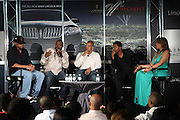 l to r: Micheal Ely, Will Packer, Quincy Jones III (QD3), Nate Parker and Stephani Frederic at the Lincoln Presents ' Off the Red Carpet ' at The 2008 American Black Film Festival at The Sofitel Hotel on August 9, 2008..' Off the Red Carpet ' celebrates the film careers of Hollywood insiders and soon to be released films by Black Filmmakers.