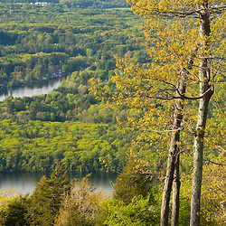 View from Mount Wachusett in Mount Wachusett State Park.  Massachusetts.