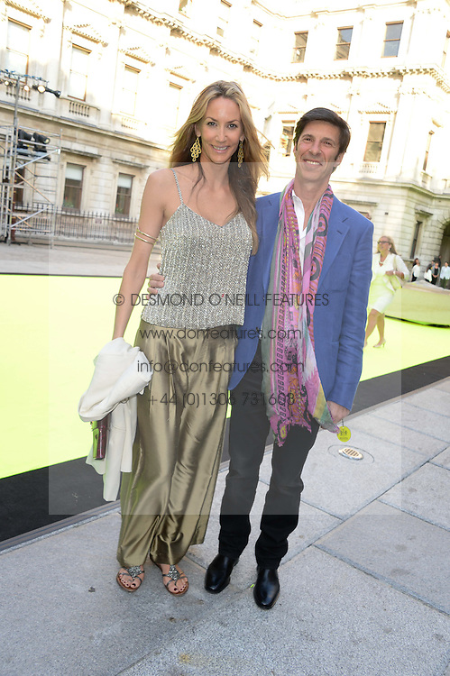 LISA BUTCHER and MICHAEL JACOBSON at the preview party for The Royal Academy Of Arts Summer Exhibition 2013 at Royal Academy of Arts, London on 5th June 2013.