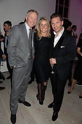 Left to right, RORY BREMNER, his wife TESSA CAMPBELL-FRASER and NICK CANDY at a party to launch the Autumn/Winter 2013 Candy Magazine held at The Saatchi Gallery, Duke of York's HQ, King's Road, London on 15th October 2013.