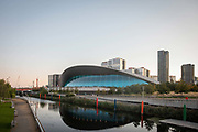 The London Aquatics Centre at Queen Elizabeth Olympic Park in Stratford on the 21st September 2019 in London in the United Kingdom. The London Aquatics Centre was the swimming & diving venue during the London 2012 Olympic Games.