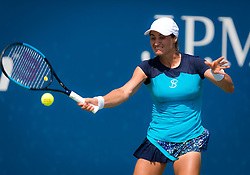 August 28, 2018 - Monica Niculescu of Romania in action during the first round of the 2018 US Open Grand Slam tennis tournament. New York, USA. August 28th 2018. (Credit Image: © AFP7 via ZUMA Wire)