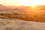 Jason Schlarb/Meredith Edwards running in Canyonlands/Needles NP, utah