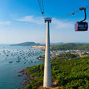 Cabel Car Mast And Gondola, Phu Quoc island, Vietnam