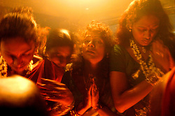 """Transgenders pray during """"Kuthandavar -aravan festival"""" in the town of Koovagam in India. <br /> As transgenders,""""hijras"""" in local terms, are acutely marginalized in Indian society, the major earning avenues for them are sex work, begging and performing at rituals."""