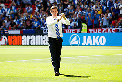 Bristol Rovers Manager Darrell Clarke applauds the fans before the match - Photo mandatory by-line: Rogan Thomson/JMP - 07966 386802 - 17/05/2015 - SPORT - FOOTBALL - London, England - Wembley Stadium - Bristol Rovers v Frimsby Town - Vanarama Conference Premier Play-off Final.