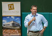 Houston ISD staff, NATEX architects and Division One contractors discuss updates to construction during an open house at Grady Middle School, September 3, 2014.