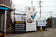 Entrance to Camp Bonifas located at the Joint Security Area (JSA). Camp Bonifas is home to the United Nations Command Security Battalion whose primary mission is to monitor and enforce the Armistice agreement of 1953 between North and South Korea. South Korea, Republic of Korea, KOR, 23rd of March 2010.