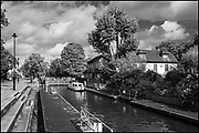 Maidenhead, Berkshire, United Kingdom, Monday, 04/10/2021, General View, Boulters Lock,  Ray Mill Island,  River Thames, Thames Valley, [Mandatory Credit; Pete Spurrier],