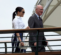 July 13, 2019 - London, England - LONDON, ENGLAND - JULY 13:  Meghan, Duchess of Sussex  attend the Women's Singles Final of the Wimbledon Tennis Championships at All England Lawn Tennis and Croquet Club on July 13, 2019 in London, England...People:  Meghan, Duchess of Sussex. (Credit Image: © SMG via ZUMA Wire)