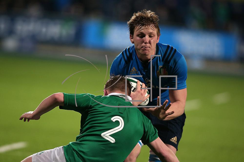 Dublino 12/03/2016 Donnybrook<br /> RBS 6 nations under 20 : Irlanda vs Italia<br /> Gabriele Venditti