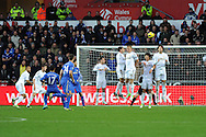Chelsea's Eden Hazard (17) takes a free-kick. Barclays Premier league, Swansea city v Chelsea at the Liberty Stadium in Swansea, Swansea, South Wales on Saturday 3rd November 2012. pic by Andrew Orchard, Andrew Orchard sports photography,