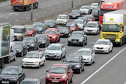 © London News Pictures. 24/03/2016. Dartford, UK.<br /> Standstill traffic at Junction 2 of the M25 at Dartford in Kent as Easter getaway traffic begins. Photo credit: Grant Falvey/LNP