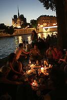 Picnic on the Seine. Photograph  by Owen Franken.........
