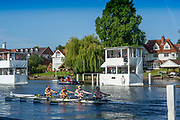 Henley-On-Thames, Berkshire, Diamond Jubilee Challenge Cup, Commercial Rowing Club, Ireland, UK., Wednesday, 11.08.21,   2021 Henley Royal Regatta, Henley Reach, River Thames, Thames Valley,  [Mandatory Credit © Peter Spurrier/Intersport Images],
